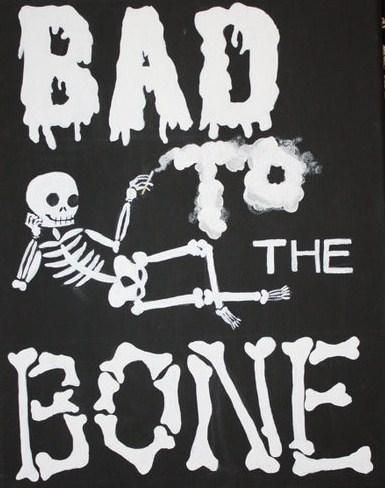 Bad to the bone was the ringtone on her phone