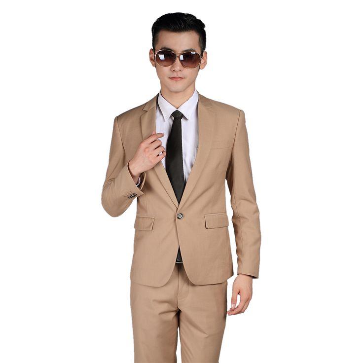 >> Click to Buy << 2016 Lastest Design Men suits (Jacket+Pants+Tie+Vest) Beige Color Slim Fit Party Formal Business Dinner Casual Classic Blazer  #Affiliate