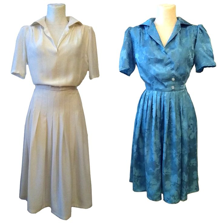"""Kleid """"Anni"""", 1940s repro. Rayon mix. Adapted from a original historical dress from the late fourties. Bespoke customized the fit the ladies. #1940s #dress #rayon #bespokevintagedress"""