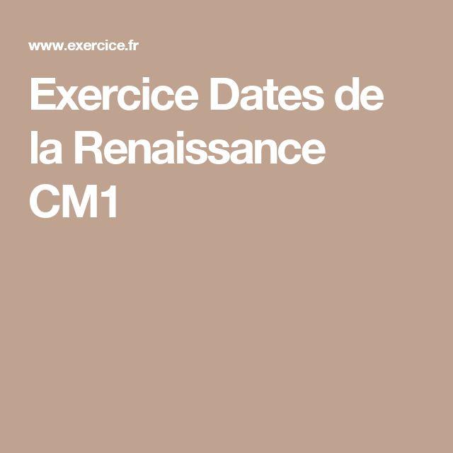 Exercice Dates de la Renaissance CM1