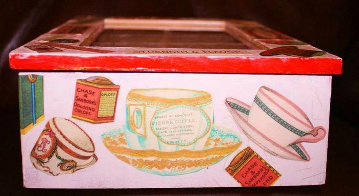 Side B of tea box