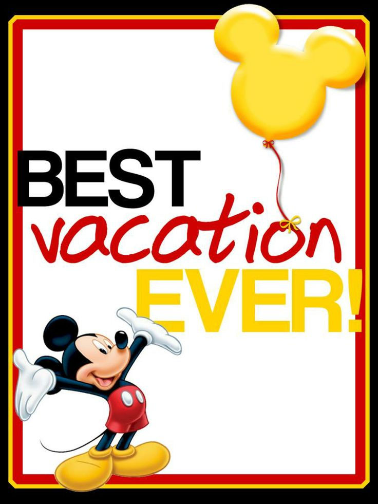 Best Vacation Ever! - Mickey Mouse - Project Life 3x4 Journal Card -
