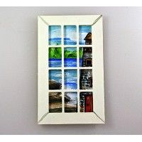 French Door Insert - Seascape with Lighthouse