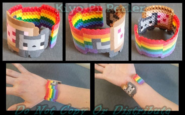 Nyan Cat Bracelet! (Original Pattern) by KiyoAntifox.deviantart.com on @DeviantArt