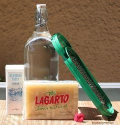 Ingredientes receta jabón líquido para la lavadora