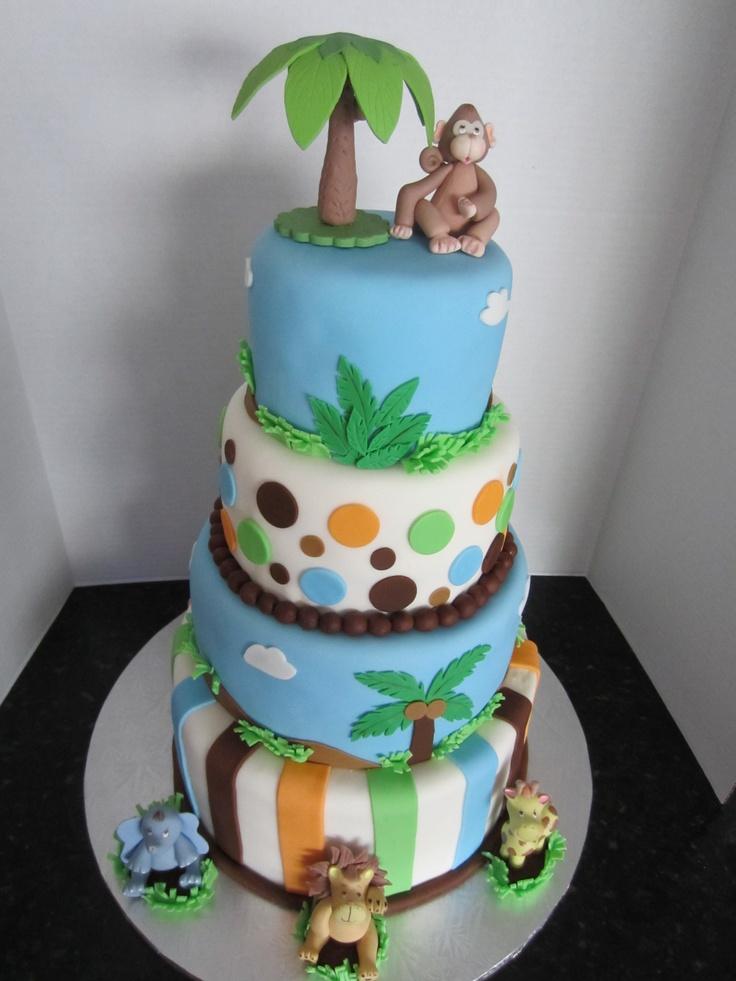 animal themed baby shower cake safari theme baby shower pinterest