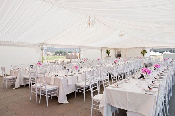 An unforgettable marquee wedding - relaxed glamour styling