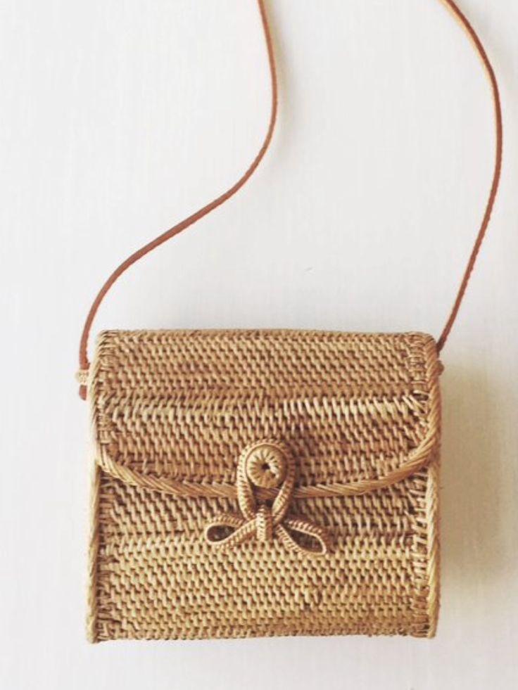 Beautiful summer bag! Woven cross body purse