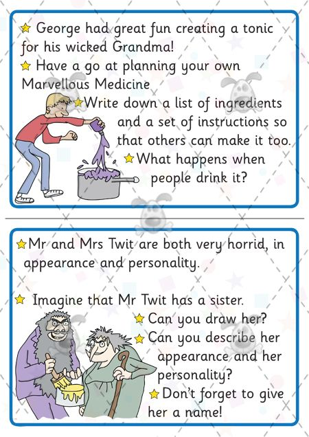 Teacher's Pet - Roald Dahl Challenge Cards