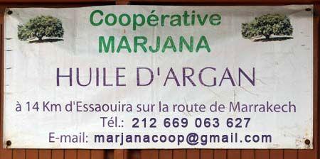 Coopérative féminine Marjanapour l'extraction de l'huile d'argan