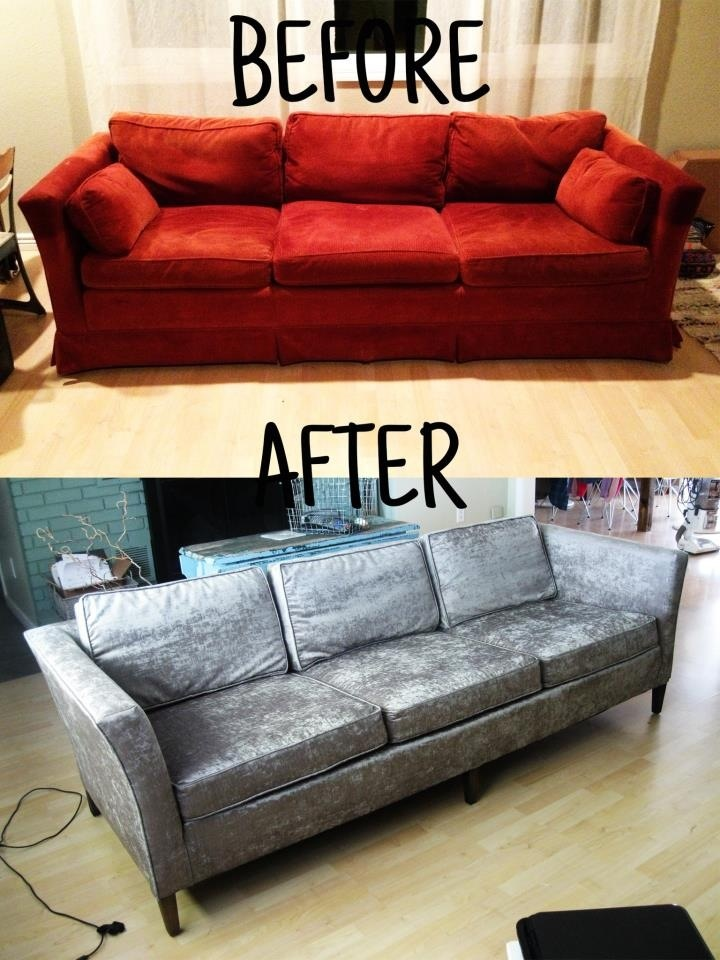 Reupholster Your Sofa Before And After Homemadebyjade Pinterest Diy Furniture Couch