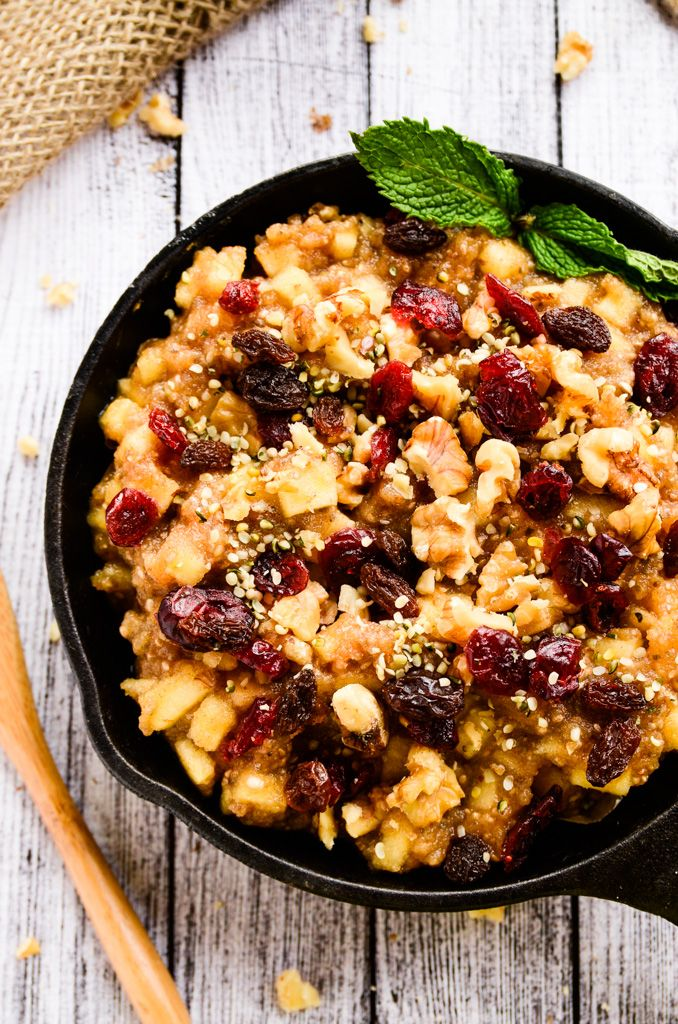 Raw Apple-Cinnamon & Chia Breakfast Bowl FoodBlogs.com