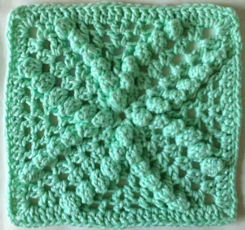 Beautiful Bobbles Dishcloth/Square: free crochet pattern