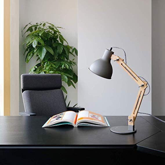 Affiliatelink Tomons Leselampe Im Klassichen Holz Design Schreibtischlampe Tischleuchte Verste Schreibtischlampe Schreibtischlampe Led Designer Tischlampe