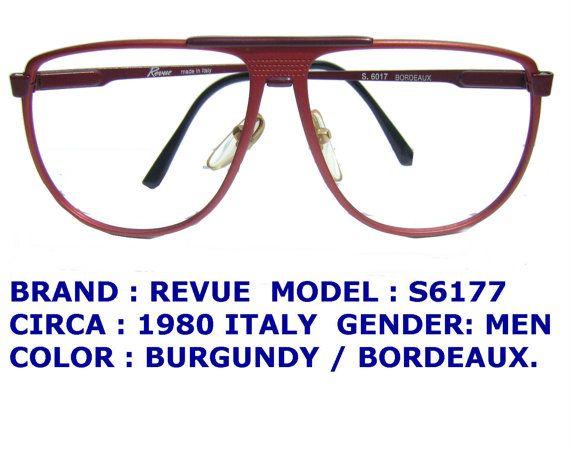 revue eyeglasses / vintage men eyewear / aviator by VINTAGEFOCALS
