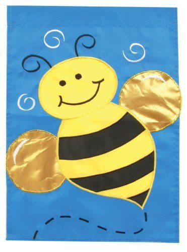 Honey Bee House Applique Flag by Toland Home Garden. $16.28. All Toland Flags are machine washable. Toland Flags are UV, Mildew, and Fade Resistant. Decorative Art Flag. Toland Flags are made from durable 600 denier polyester. Heat sublimated process permanently dyes flag fabric for long-lasting color. Honey Bee Standard Applique Flag 28 by 40. Save 59%!