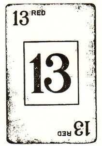 *Tim Holtz Rubber Stamp LUCKY 13 Card Stampers Anonymous