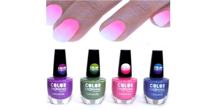 Set of 4 -Thermal Effect Colour Changing Nail Polish: Amazon.co.uk: Beauty