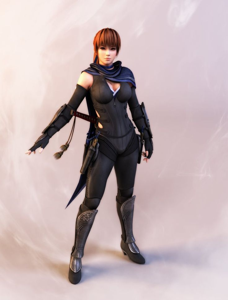 Kasumi's black ninja suit is awesome and so well designed