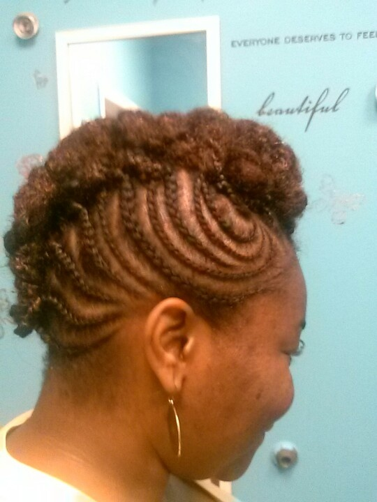 up style with braids and twists Hair styles and hair products