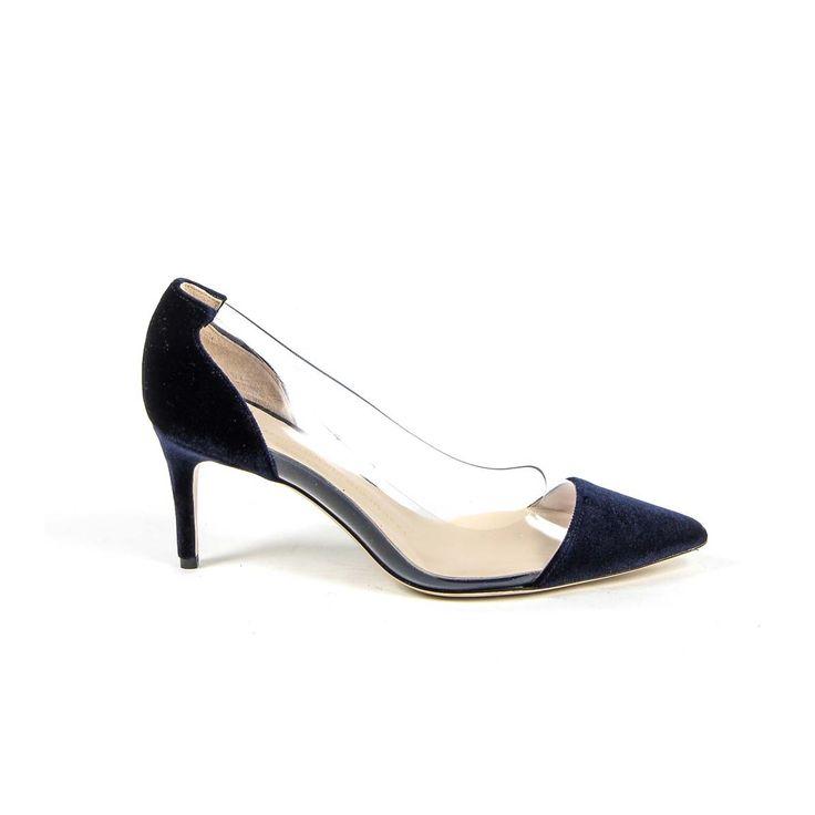 Versace 19.69 Abbigliamento Sportivo Srl Milano Italia Womens Pump 3105124 VELLUTO BLU ROYAL