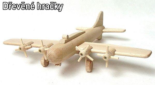 Dřevěné hračky letadla pro děti