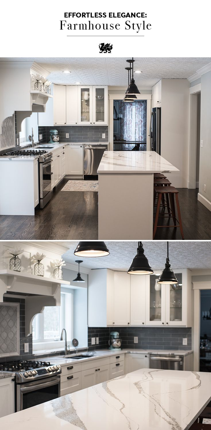 ... Annicca Is An Elegant Alternative To Marble Countertops For Farmhouse  Kitchen Style That Makes A Statement. These Stunning White Quartz  Countertops Pair ...