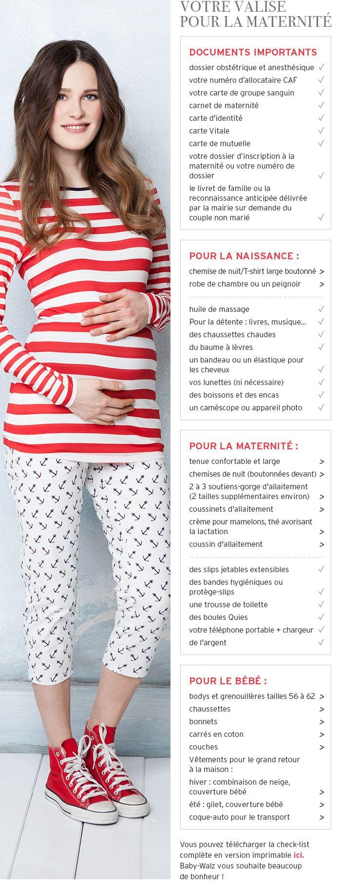 Votre valise pour la maternité - à commander en ligne - Baby-Walz