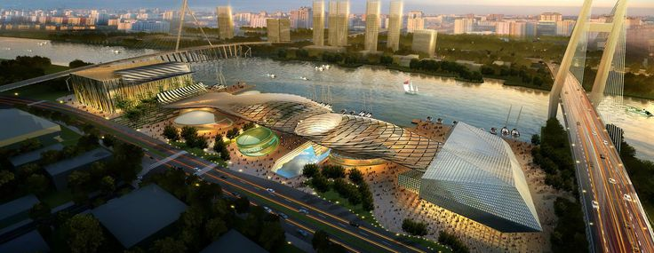 cool Ningbo Waterfront | HKS Check more at http://www.arch2o.com/ningbo-waterfront-hks/