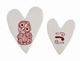 Tiki Sketch Hearts Tiles