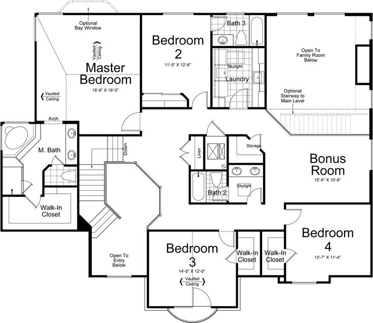 tuscany ivory homes floor plan upper level - Floor Plans For Homes