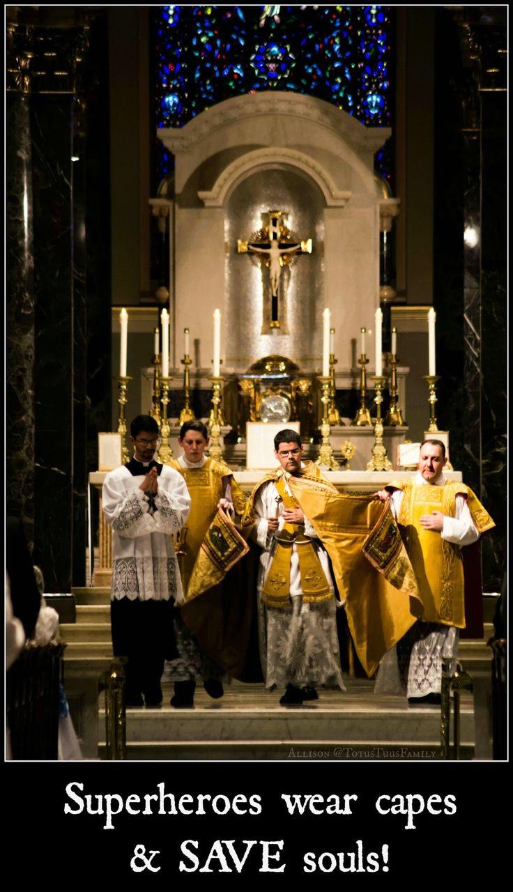 Totus Tuus Family & Catholic Homeschool: Wordless Wednesday - Cape Wearing Catholic Priests