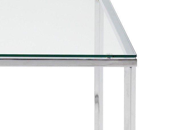 Glazen Tafel Criss vierkant bijzettafel