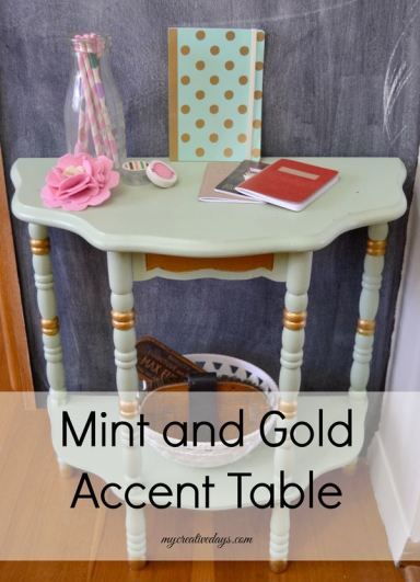 Mint And Gold Accent Table mycreativedays.com