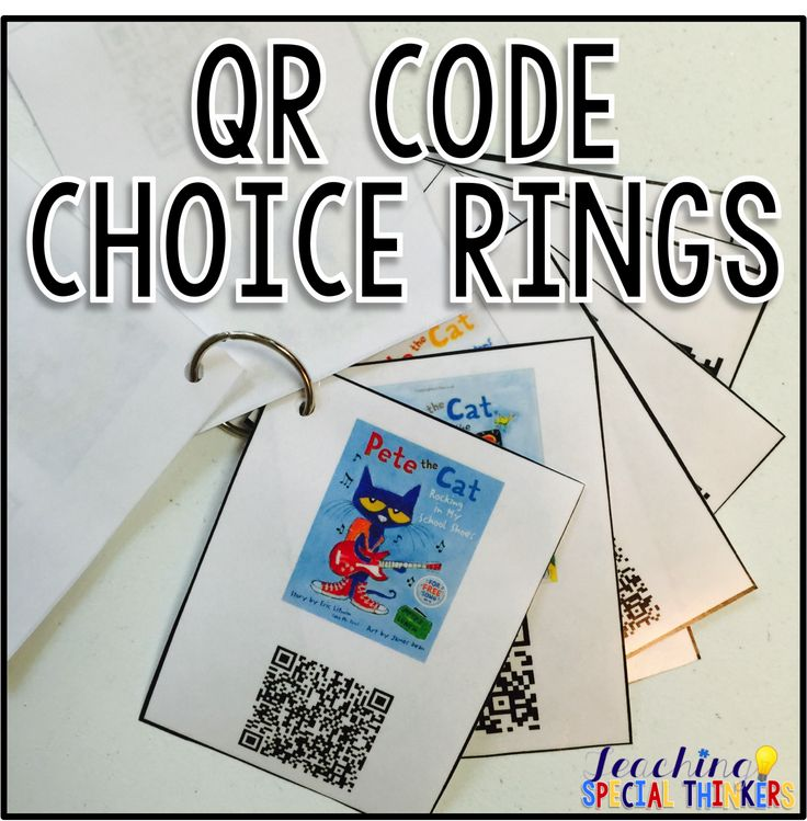 QR Code Choice Ring {Tutorial} (Teaching Special Thinkers)