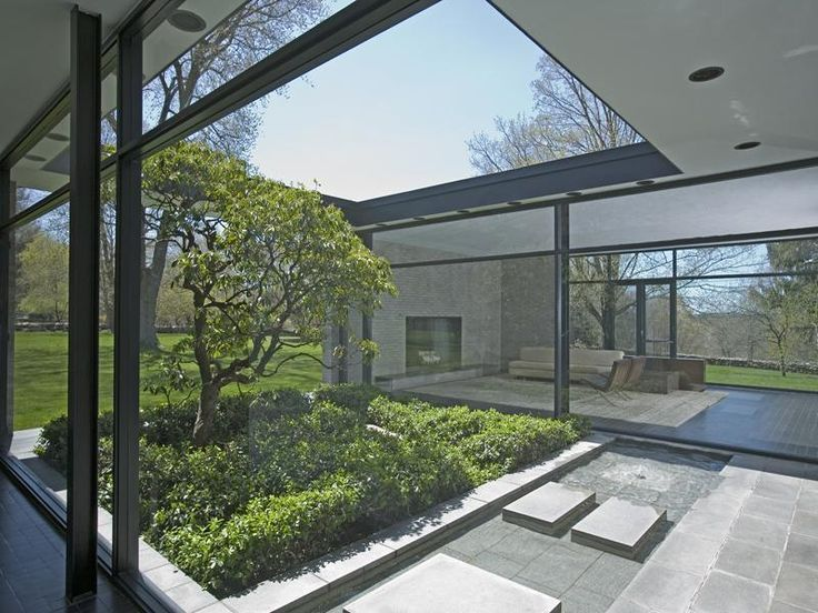 philip johnson / hodgson house, new canaan #courtyard