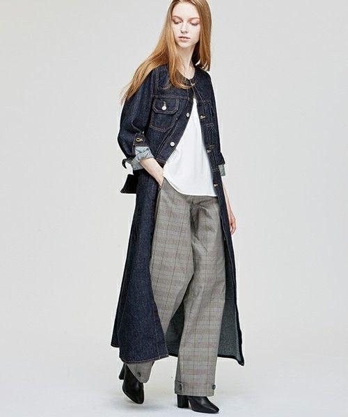 【ZOZOTOWN】TRUNO by NOISE MAKER(トルノバイノイズメーカー)のデニムジャケット「リボン付きロングデニムノーカラーコート」(NM-LG-003)を購入できます。
