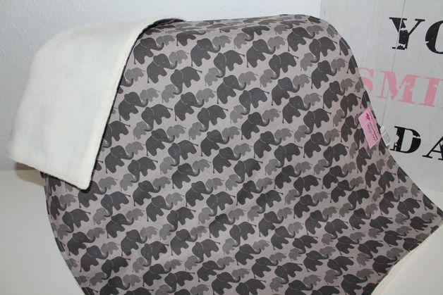 Babydecken - Kuscheldecke Kinderwagendecke ♥ Elefant ♥ - ein Designerstück von eintraumwerkstadt bei DaWanda