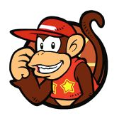 A portrait of #DiddyKong from #MarioHoops 3 on 3 on the Nintendo DS. More info on this game at http://www.superluigibros.com/mario-hoops-3-on-3