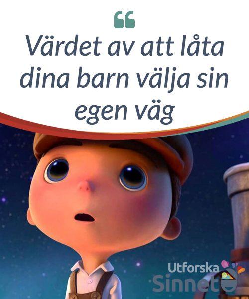Värdet av att låta dina barn välja sin egen väg.  Ett barn måste få #välja sin egen väg för att #utvecklas. 3Disney #Pixars kortfilm #Månen illustrerar detta på ett lysande sätt!