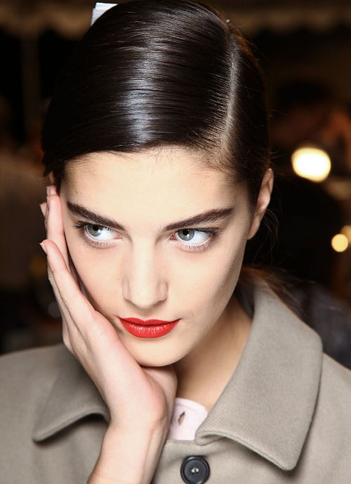 Katryn Kruger backstage at Marc by Marc Jacobs