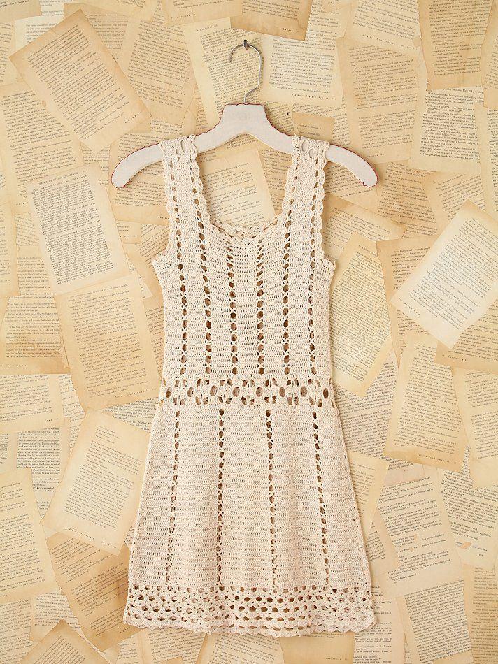 Crochet patterns: Crochet Free People Vintage Mini Dress - Free Pattern and Handmade Tips