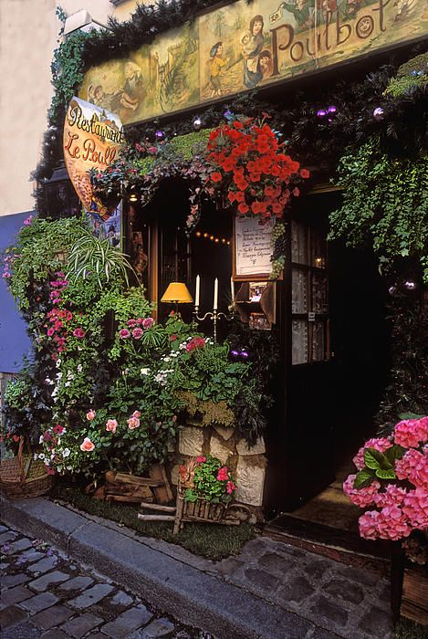 One of the few reasons to actually want to go to France: all of these little shops and restaurants. If someone could find a way to recreate the beauty of unique little shops like this in America, they could build a town that everyone wanted to go to.