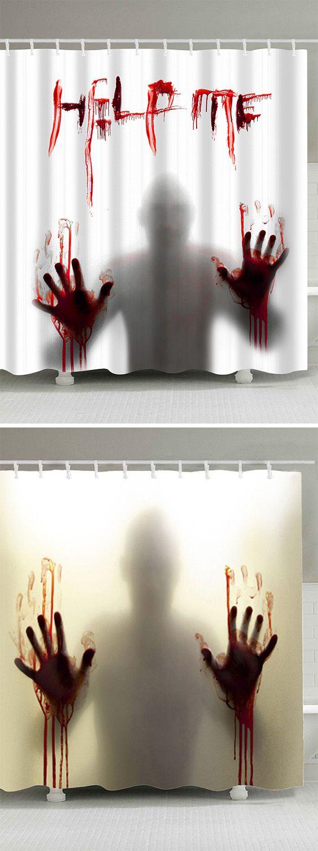 halloween decoration ideas:shower curtains