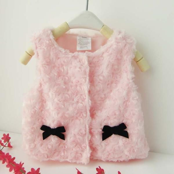 Choice of Baby Girls Faux fur Vests.
