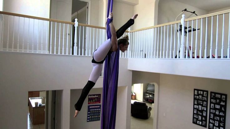 Stephanie Aerial Silk Shes incredible, cant wait to have a silk in my house