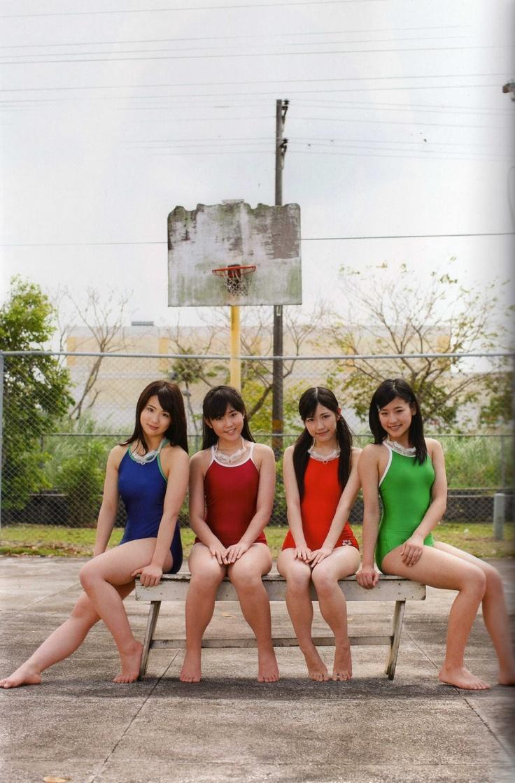 Photobook: Watariroka Hashiritai [ 渡り廊下走り隊] - Akkanbe (アッカンベ) ~ Jmagazine Scans
