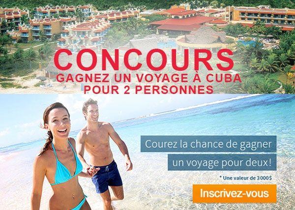 Concours Club Bulletin Voyage Gagnez une semaine pour 2 à Cuba