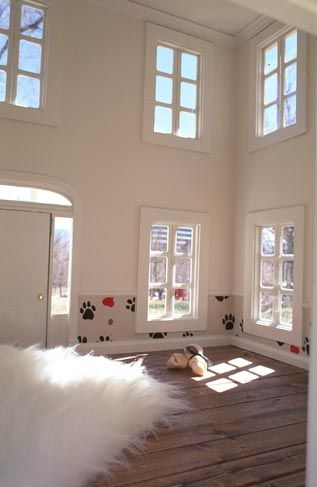 inside view of a luxury dog house as posted for sale on opulent items website