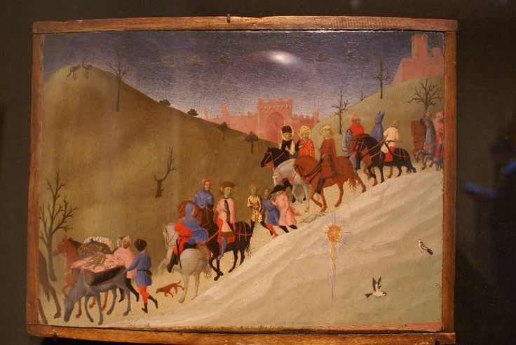 Сассетта. «Шествие волхвов». 1436. музей Метрополитен.
